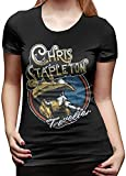 Photo de Chris Stapleton T Shirt Womens Short Sleeve Tee Shirts,Black,Medium par