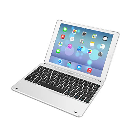 iPad 9.7-inch (iPad 6, 2018 / iPad 5, 2017) Keyboard, Arteck Ultra-Thin Bluetooth Keyboard with Folio Full Protection Case for Apple iPad 9.7 iPad 6, 5 and iPad Air 1 with 130 Degree Swivel Rotating