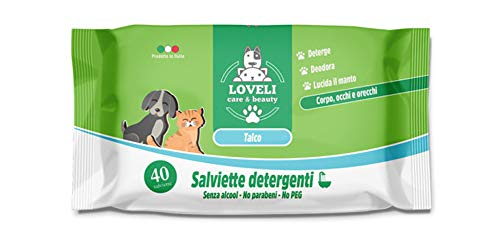 Eudorex Cleaning Salviette per cani e gatti – 40pz - Formato XL