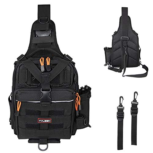 Yvleen Fishing Tackle Backpack Outdoor Large Fishing Tackle Storage Box Bag Water Resistant Fishing Backpack With Rod Holder Shoulder Backpack Buy Online In Kuwait Yvleen Products In Kuwait