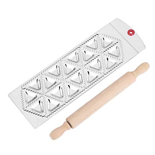 Geschirr Aluminium Dumpling Maschine 12-Loch-Runde Wonton Forming Platte mit Nudel-Stock-und Pasta-Schneidewerkzeug (Color : MF 18TR)