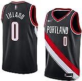 Movement Ropa Camisetas de Baloncesto para Hombres, NBA Portland Trail Blazers # 0 Damian Lillard, Classic Sport Sports sin Mangas Ropa Camiseta, Telas Comfort Uniformes(Size:S/,Color:G1)