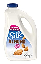 Silk Almond Milk, Unsweetend Original, 96 oz
