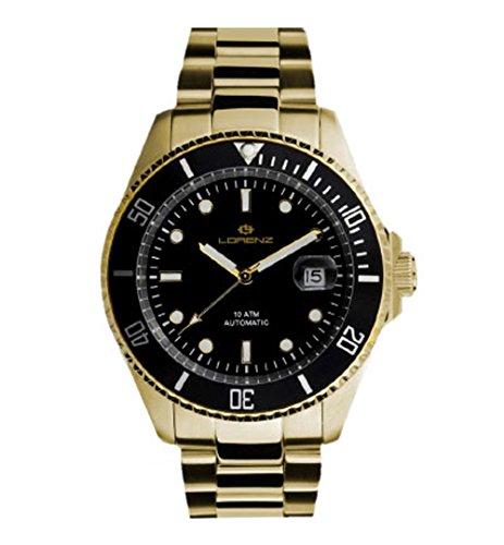 Lorenz 27006AA - Reloj, Correa de Acero Inoxidable Chapado Color Dorado