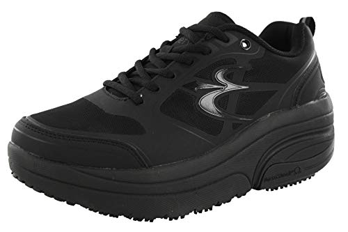Gravity Defyer Women's G-Defy Ion Black Athletic Shoes 9.5 M US - Non-Slip Nurses Work Shoes for Plantar Fasciitis Shoes for Heel Pain, Shoes for Back Pain