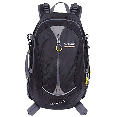 EGOGO 32 l Wasser-Resistent Outdoor Sport Wandern Camping Radfahren Rucksack Daypack S2128 (Schwarz)