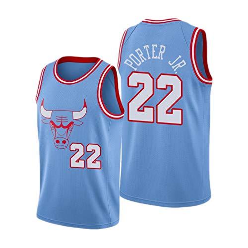 XJQ 2019-20 Chicago Bulls Otto Porter JR # 22 Blue City Jersey Feuchtigkeits-Docht-Gewebe, der frisch fühlt (S-XXL) S