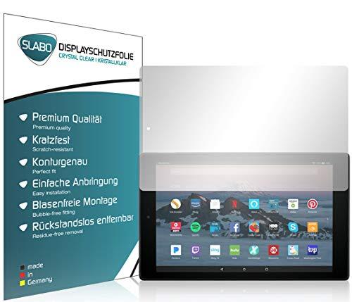 Slabo 2 x Bildschirmschutzfolie für Amazon Fire HD 10-Tablet mit Alexa (25,65cm 10,1