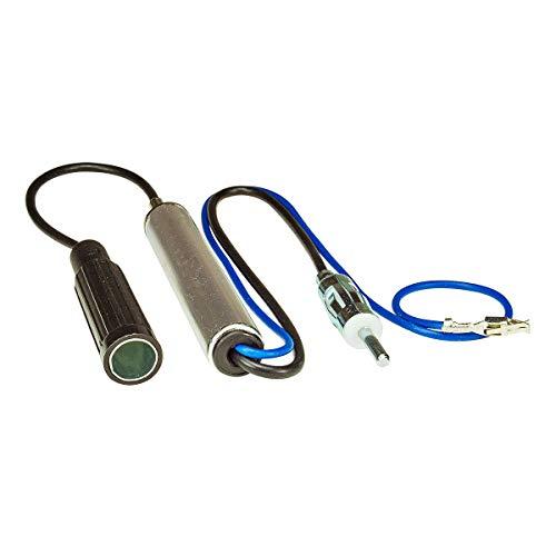 tomzz Audio 1515-000 Antennenadapter mit Phantomeinspeisung kompatibel mit VW Sharan, Ford Galaxy, Seat Alhambra DIN Buchse auf DIN