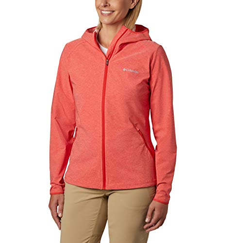 Columbia Damen Softshell-Jacke Heather Canyon, Orange (Bold Orange Heather), M