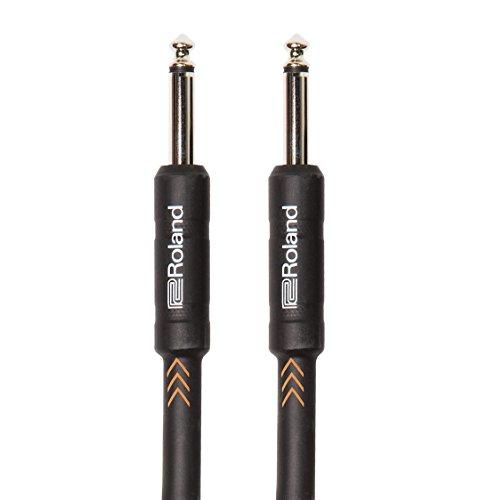 Roland Black-Serie 6m Instrumentenkabel, gerade/gerade, 6,3-mm-Klinkenstecker - RIC-B20