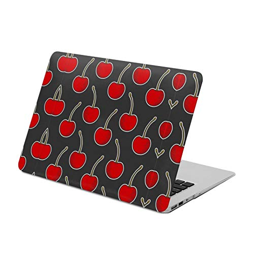 MacBook Air 13 inch Case 2020 2019 2018 Release A2179 A1932,Red Cherry,Plastic Hard Shell with Keyboard Brush, Only Compatible with MacBook Air 13 inch