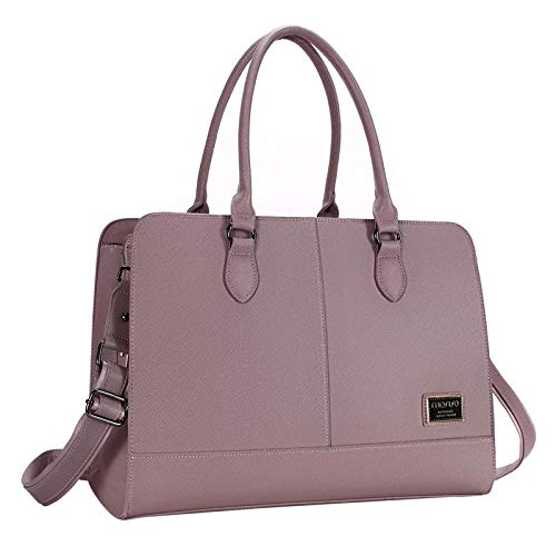 MOSISO Women Laptop Tote Bag (15-16 inch) 3 Layer Compartments, Purple