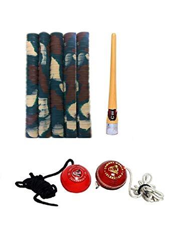 CW Pro Cricket-Zubehör-Set (Schlägergriffe + Griff-Applikator + Hängebälle zum Klopfen)