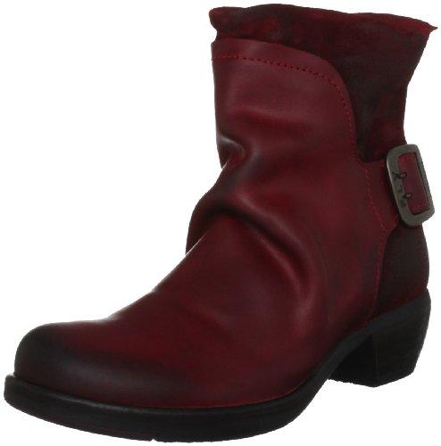 FLY London Mel P141633, Damen Biker Boots, Rot (Red 006), 39 EU (6 UK)