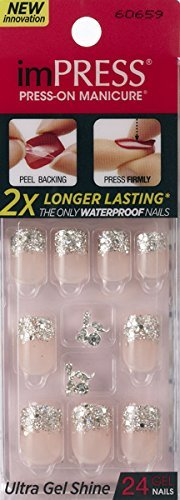"""NEW 2015 Kiss GEL imPRESS """"ONE SHINE DAY"""" by Broadway Press-On Manicure Gel Coated Nails"""