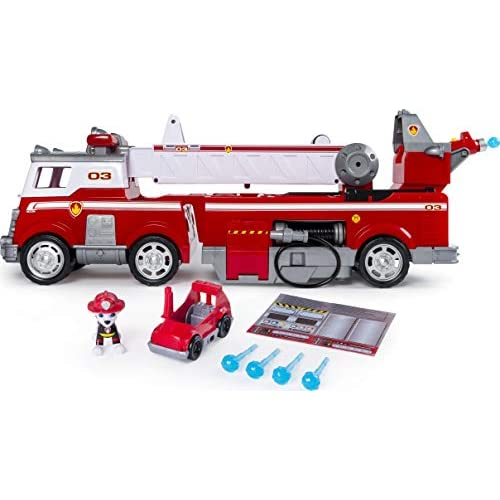 Paw Patrol Mega Camion dei Pompieri di Marshall, Con Scala Allungabile, dai 3 Anni, 6043989