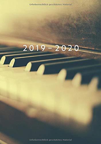 2019 - 2020: Wochenplaner ab KW18   Mai 2019 bis Dez 2020 Kalender   1 Woche auf 1 Seite Planer   A5 Format Terminkalender   Piano Motiv