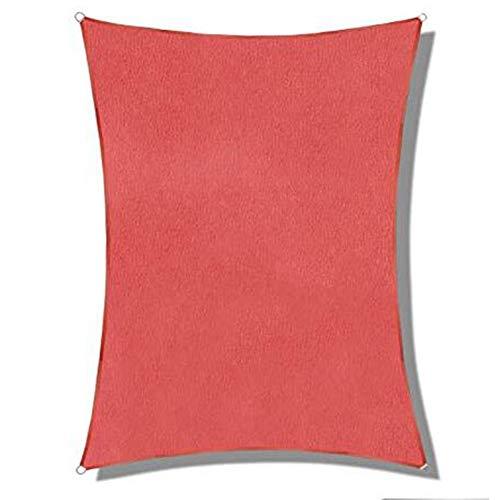 SSRS Sombreando 95% sombreado Neto Patio Transpirable Toldo de Vela Resistencia al desgarro con Agujero del Metal PE, 7 Colores, 8 Tamaños portátil, Duradero (Color : Red, Size : 3X3M)