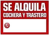 Wayshop | Cartel Se Alquila Cochera y Trastero | Medidas 50cm x 70cm | Fabricado en Polipropileno 3mm de Grosor.