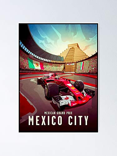 AZSTEEL Mexican Grand Prix Auto Racing Advertising Print Poster   Best Gift for Family and Your Friends 12x17 Inch