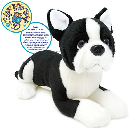 VIAHART Baxter The Boston Terrier | 12 Inch Stuffed Animal Plush Dog | by Tiger Tale Toys