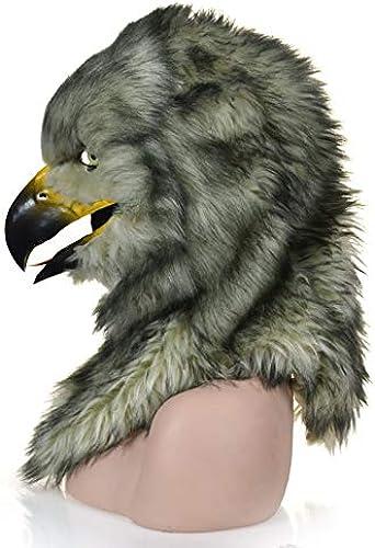WENQU Les Fabricants vendent de la Fourrure Bien nourrie à la Main Fait sur Mesure du voiturenaval d'une Population en MouveHommest Couvrant Un Masque de Simulation d'aigle (Couleur   gris, Taille   25  25)