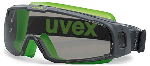 Uvex U-Sonic Supravision Excellence - Gafas Protectoras de visión Completa, Color Gris