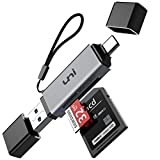 SD Card Reader, uni USB C Memory Card Reader Adapter USB 3.0, Supports SD/Micro SD/SDHC/SDXC/MMC, Compatible...