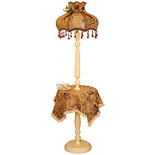 Retro staande lamp staande lamp met tafelkleed voor slaapkamer woonkamer hoogte: 159 cm