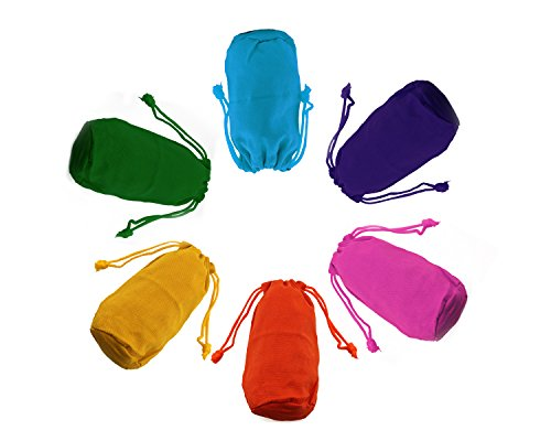 Tytroy Assorted Colored Canvas Pouches Mini Drawstring Sacks Rainbow Bags (12 Pack)