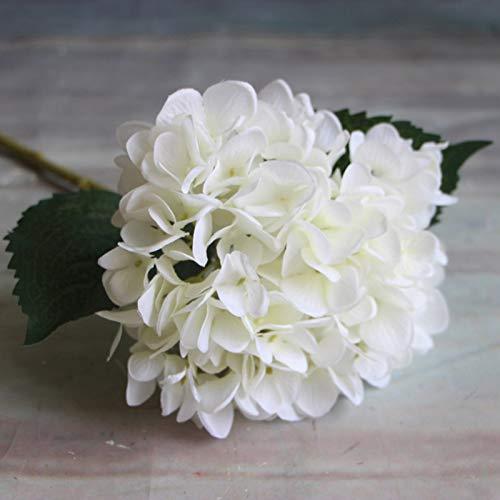 Kunstmatige Gedroogde Bloemen - 1 st 45 cm Kunstmatige Hydrangea Bloemen Echte Touch Zijde Party Home Tuin Decoratie Bloemen 5 Kleuren - Bloemen Kunstmatig Gedroogd Kleur: wit