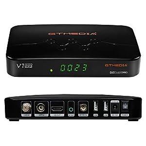 immagine di GT MEDIA V7 PRO Decoder Digitale Terrestre DVB-T2 Ricevitore Satellitare TV Sat DVB-S2X combo HEVC 10bit Full HD 1080p con Antenna WiFi USB, lettore Smart Card per Tivusat, Supporto YouTube CCcam