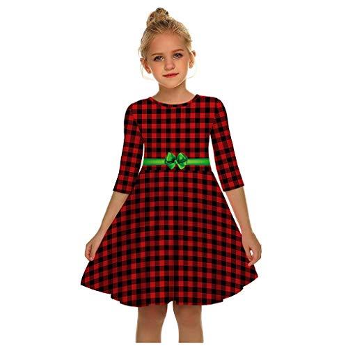 Allegorly Weihnachten Prinzessin Kleid Mama & Tochte Kinder Mädchen 3D Cartoon Drucken Kleid Familie Kleidung Beiläufig Langarm Knielang Elegante Abend Partykleid Cocktailkleid