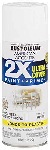 Rust-Oleum 327951-6 PK American Accents Spray Paint, 6 Pack, Semi-Gloss White
