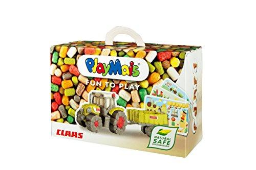 PlayMais Fun to Play CLAAS Jeu de Construction pour Les Enfants de 3 Ans et Plus | kit de Bricolage avec 550 pièces, 10 modèles et Instructions pour Le Tracteur & co. | créativité et motricité