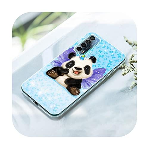 Lindo animal panda - Funda de silicona compatible con Huawei P50 Pro P40 Lite E P30 Pro P10 Plus P20 Lite P Smart Z 2021 Pro 2019 Soft Cover-004-P10