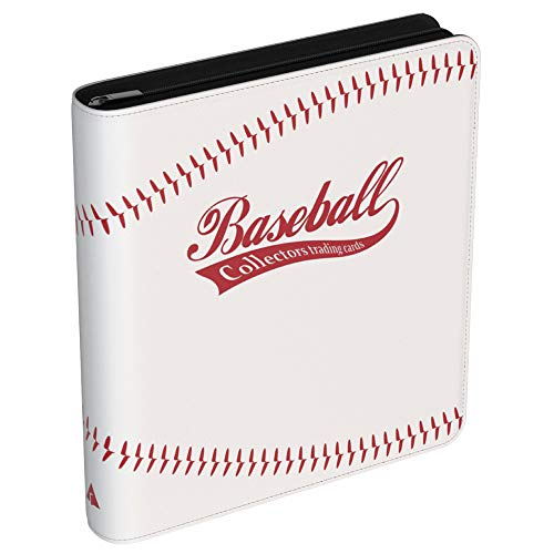 Rayvol 720 Pockets Baseball Card Binder for Trading Cards, Fit 720 Cards with 40 Sleeves Included, 3 D-Ring Album for Card Collection Storage