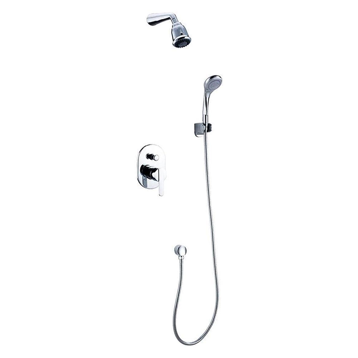 原子炉一救出ShiSyan シャワーシステム、 ハンドシャワーシンプルな調整水温シャワーセット、簡単なインストールをシャワーの壁がマウント(バス&シャワーの蛇口のタイプ:インウォールのシャワー水栓) シャワーヘッド セット 節水