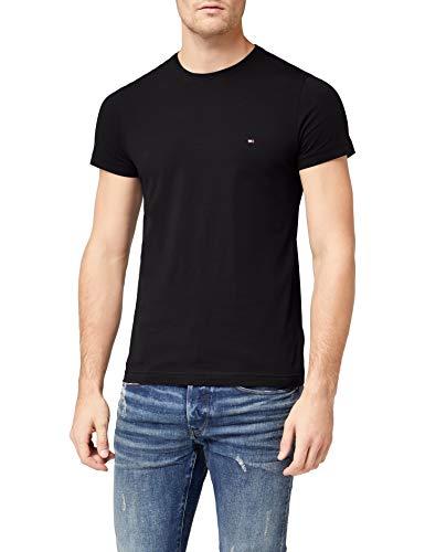 Tommy Hilfiger Core Stretch Slim Cneck Tee T-Shirt, Noir (Flag Black 083), Medium Homme