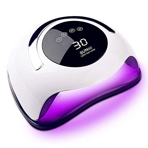 Zaro UVライト ネイルドライヤー 36LEDs 120W ネイルライト レジン用 四つタイマー設定 自動センサー LCD液晶ディスプレー 磁気ベース 硬化用 ライト ホワイト