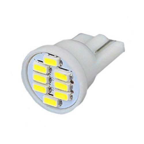 GSDGBDFE 50 unids T10 8 SMD 3014 LED Bulbs Lémpara de cúpula de Lectura de Coches 194 168 192 W5W 8LED 8LD 8SMD Auto cuña Aparcamiento Luz Blanca DC 12V (Emitting Color : White)