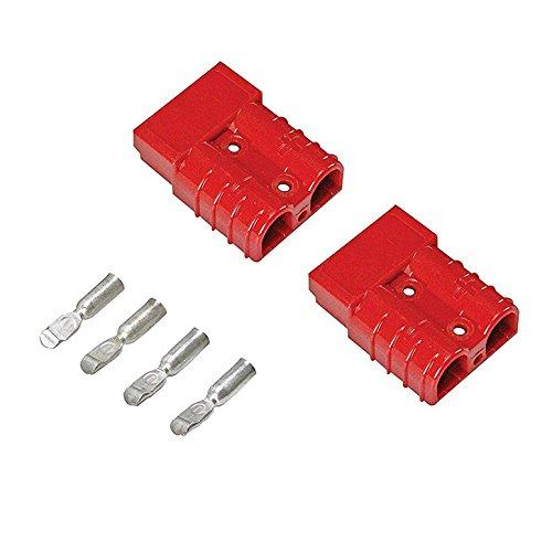 Karcy Red 12-36 V DC 175 A 2 – 4 – AWG cabrestante de conexión rápida desconecte enchufe accesorios de batería cable recuperación Winch remolque 2 piezas