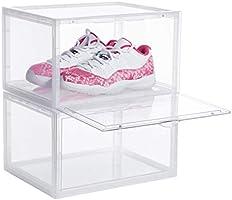 八番屋 シューズボックス 2個セット スニーカー ボックス シューズ ケース シューズラック 靴 収納 棚 透明 横型 ホワイト