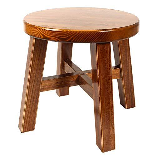QQXX kruk eenvoudige moderne massief hout kleine kruk voor de woonkamer of op de bank (kleur: houtkleur, maat Afmetingen: 2827 cm. 2 2