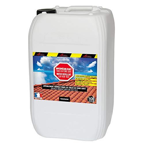 Hydrofuge Toiture - Imperméabilisant Tuile en terre cuite - IMPERTUILE TERRE CUITE - Liquide- Transparent - 20 L (jusqu a 100m²) - ARCANE INDUSTRIES