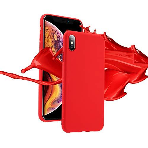 ZHYLIN telefoonhoesje vloeibaar dun zacht telefoonhoesje voor Samsung S8 S9 S10 Plus zachte siliconen cover effen Candy kleur voor Samsung S10 Lite