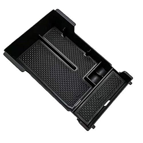 UNDKI Caja de Almacenamiento Central Organizador Caja de Almacenamiento Compatible con Mazda 3 2019 2020 Axel Negro plástico del Interior del Coche de contenedores Accesorios de Coche