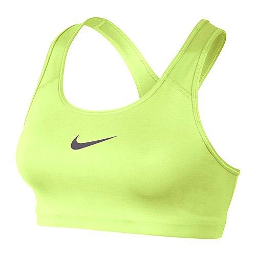 Nike Classic Swoosh, Reggiseno Donna, Giallo (Volt Glow/Gunsmoke), XS