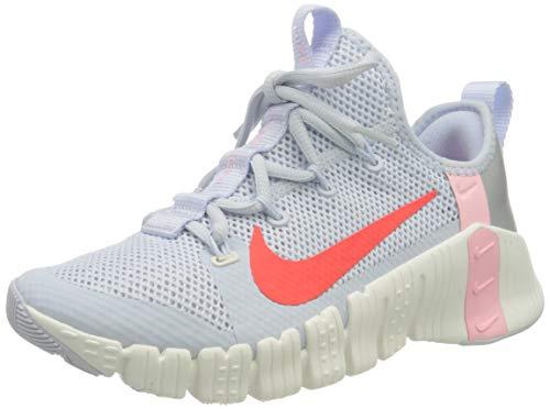 Nike Wmns Free Metcon 3, Scarpe da Ginnastica Donna, Football Grey/BRT Crimson-Summit White-Arctic Punch-Mtlc Silver, 38.5 EU